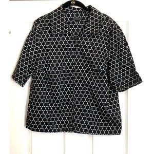 Counterparts Black & White Zippered Collar Shirt